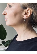 Rose Cut Grey Diamond Earrings in Palladium