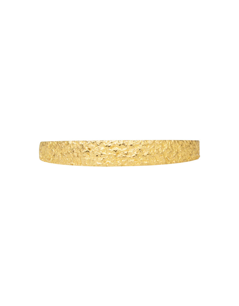 Tapered Sand Band in 18k Yellow Gold