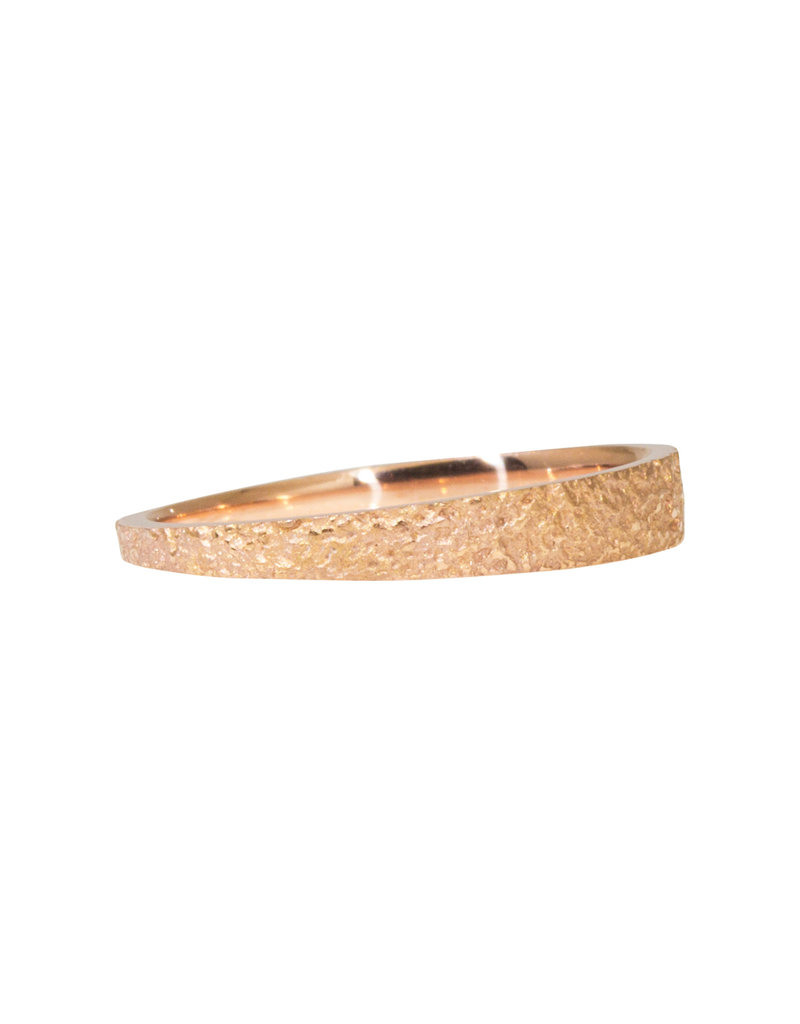 Tapered Sand Band in 14k Rose Gold