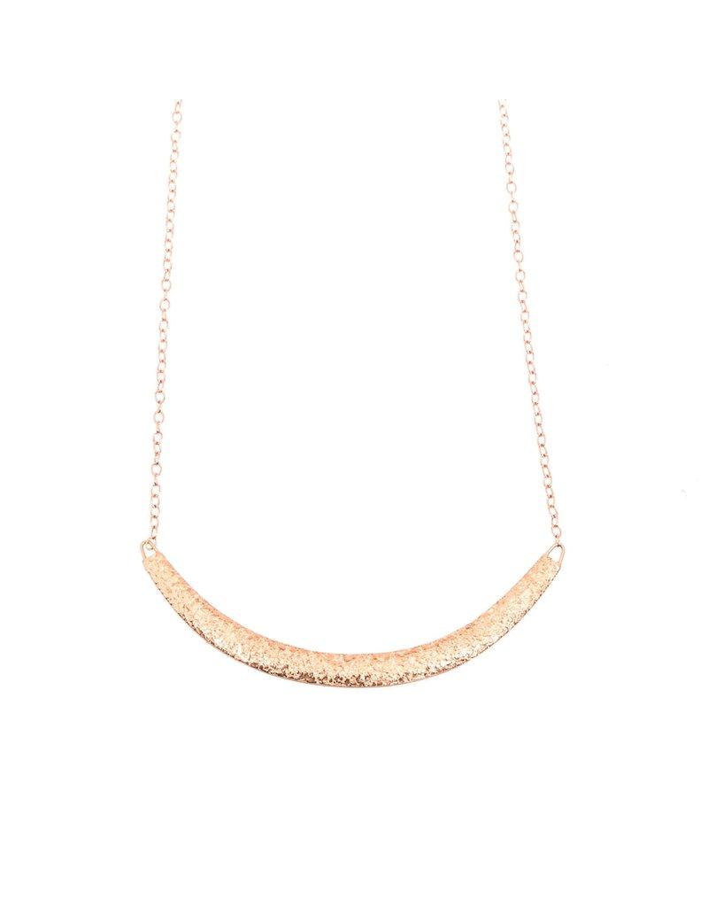 Compressed Sand Bar Necklace in 14k Rose Gold