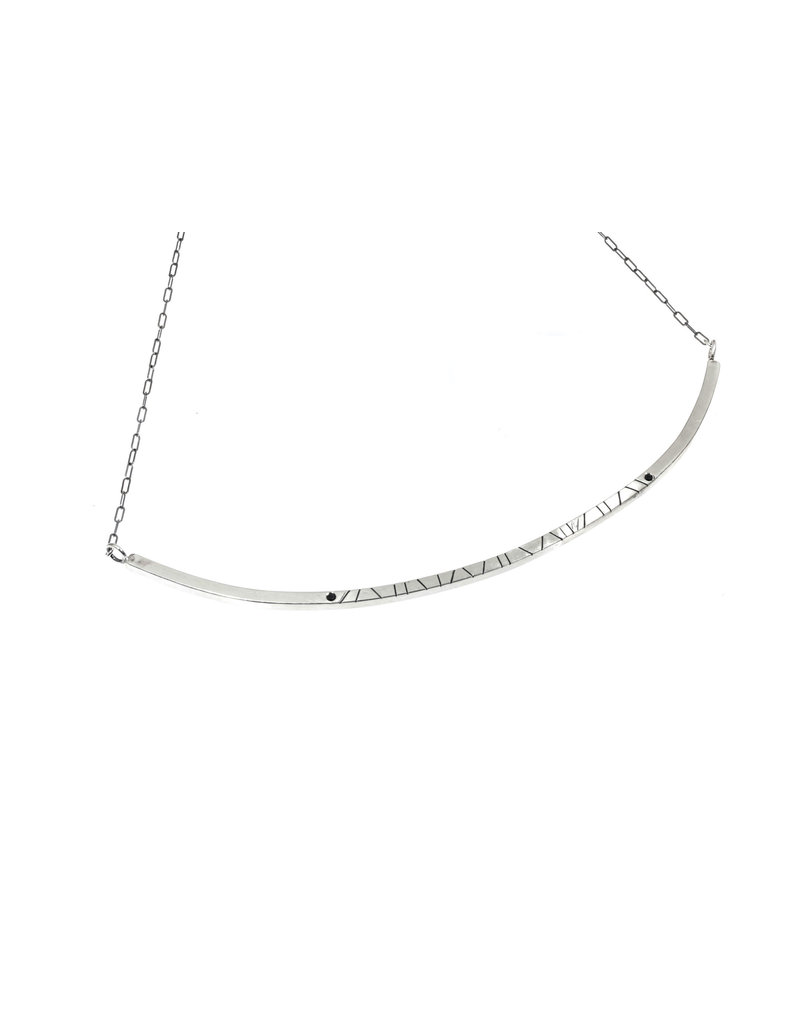 Trevi Pendro Large Branch Necklace with Spinel in Silver