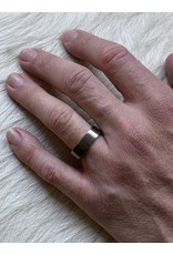 7mm Plain Finger-Shaped Band in Titanium