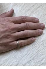 Geometric Silver Ring with Grey Rosecut Diamond