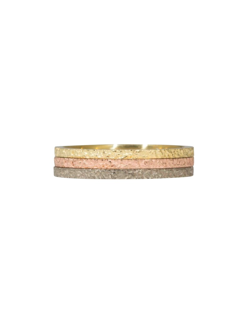 Slim Sand Band in 14k Rose Gold
