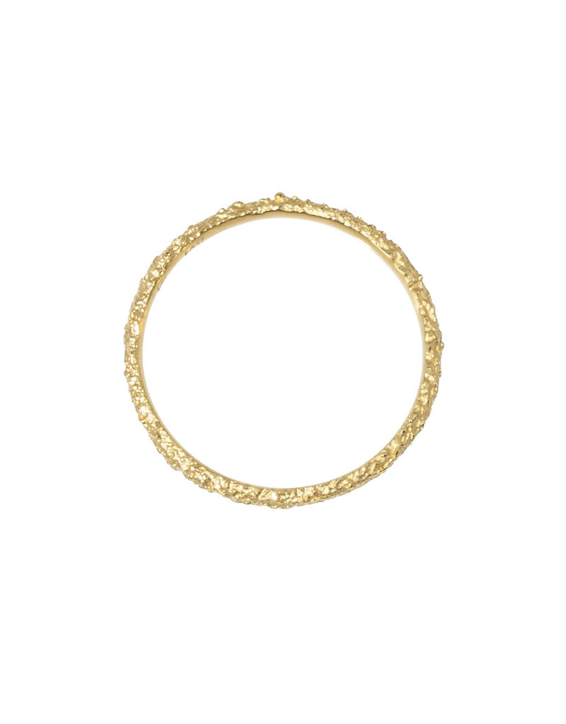 Skinny Round Sand Band in 18k Yellow Gold
