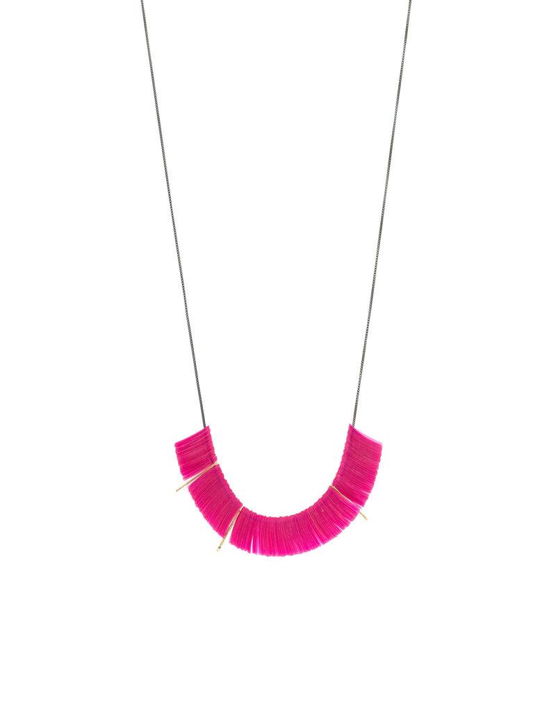 Delirium Sequin Necklace in Magenta