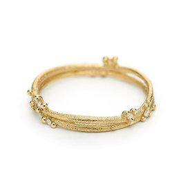 Diamond Encrusted Wrap Band in 18k Yellow Gold