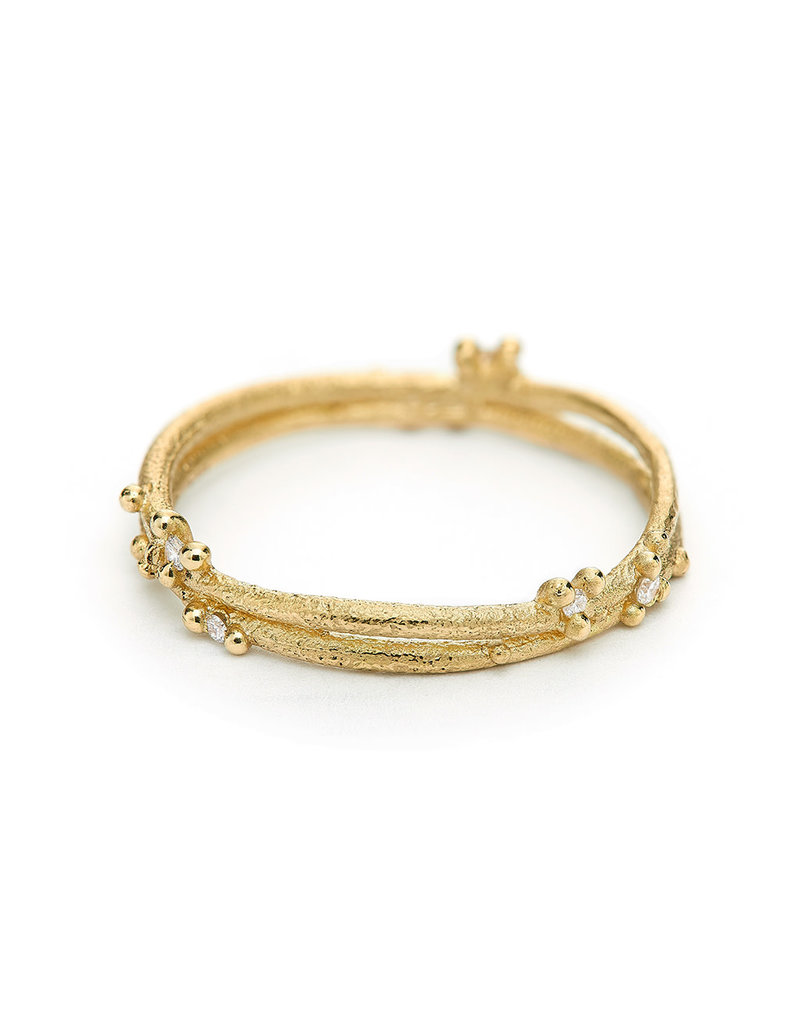 Diamond Encrusted Wrap Band in 18k Yellow Gold