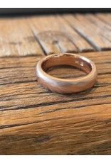 6mm Half Round Modeled 14k Rose Gold Band