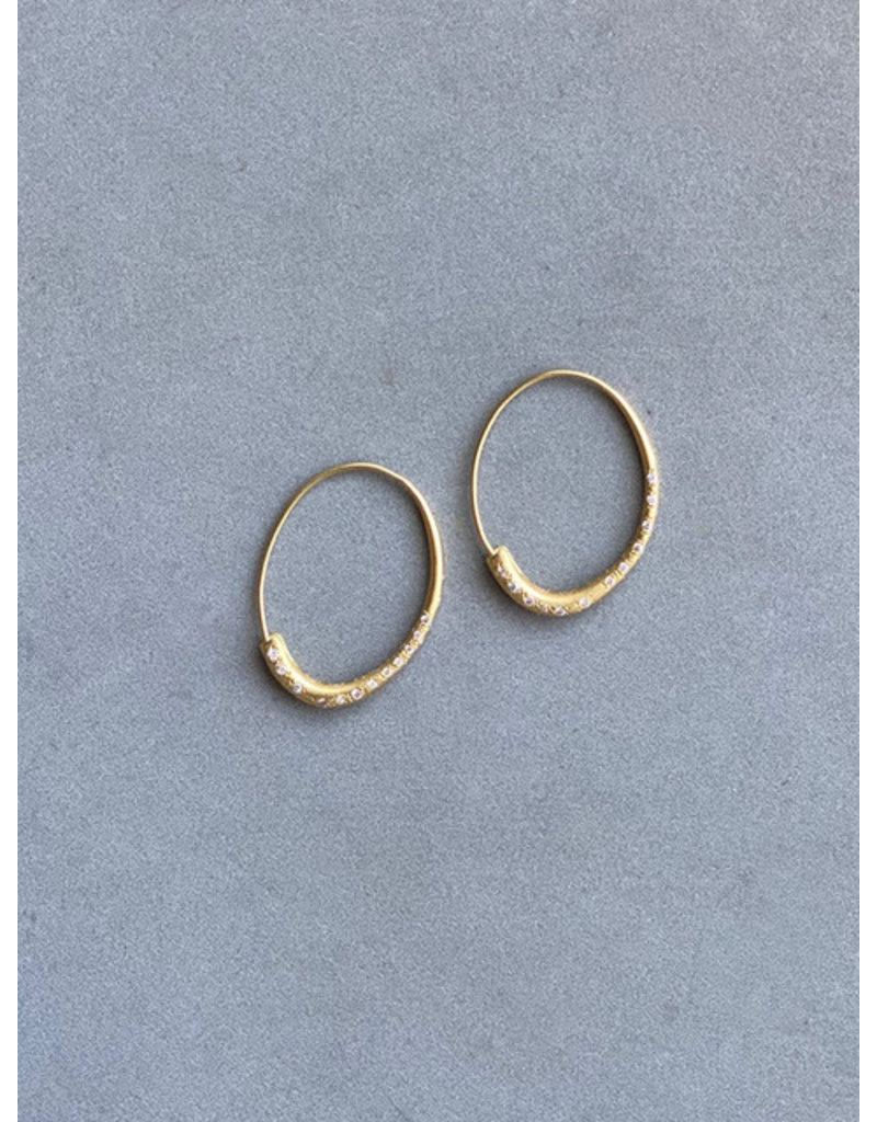 Epine Earrings with Diamonds in 18k Yellow Gold