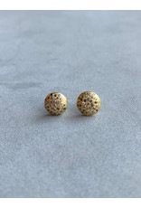 Clouer Earrings with Gray Diamonds in 18k Yellow Gold
