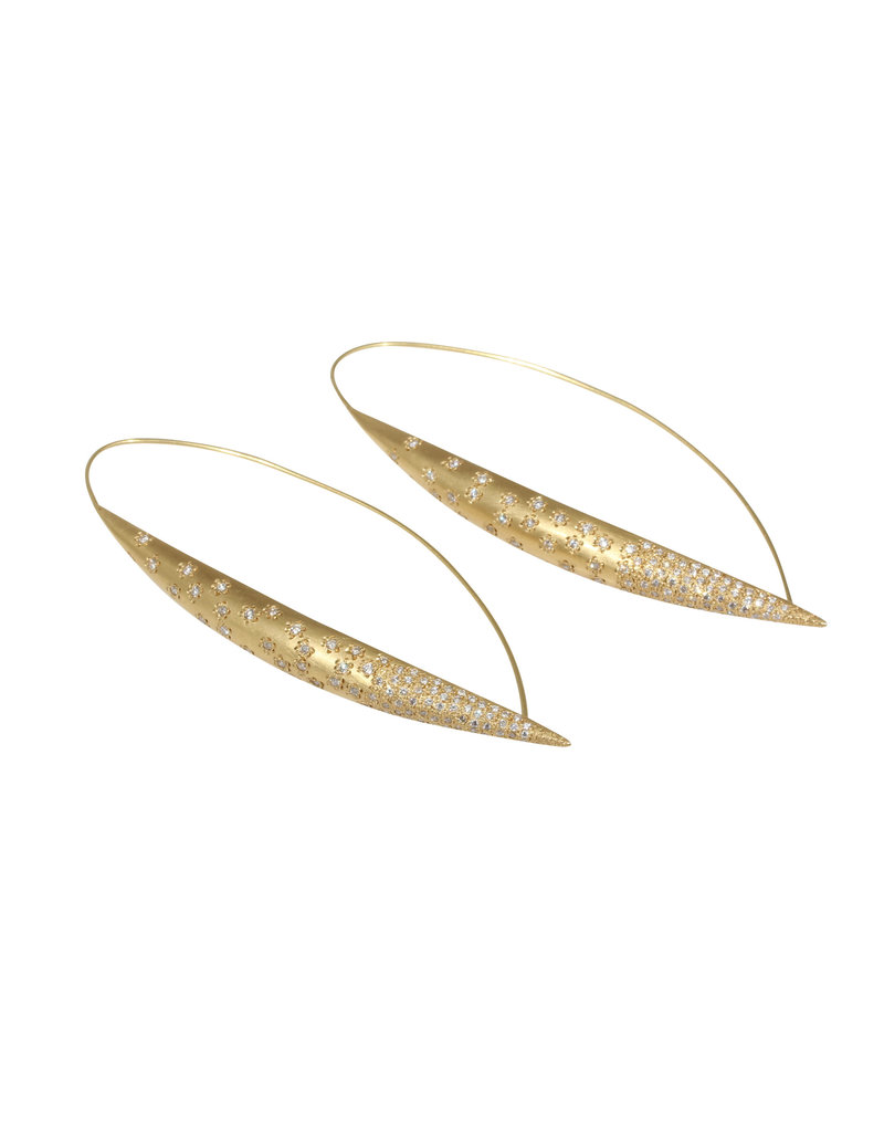 Frost Earrings with Diamonds in 18k Yellow Gold