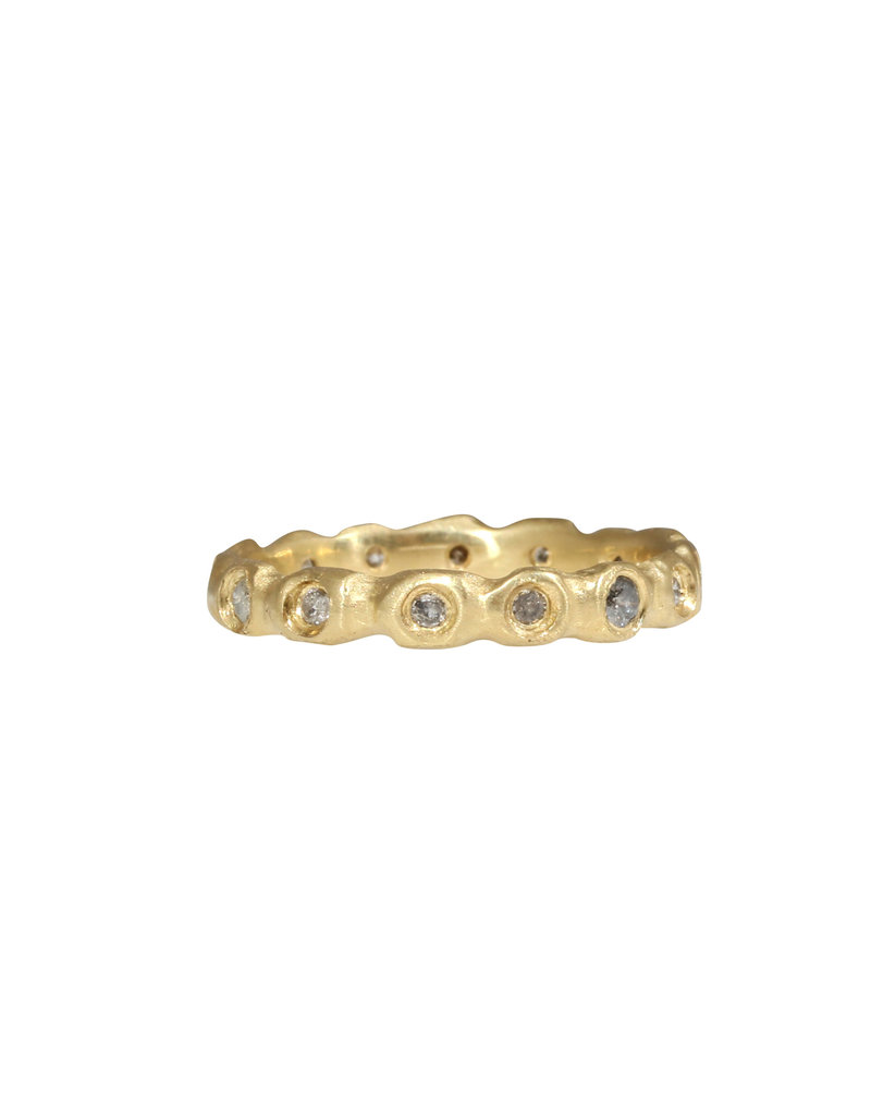 Barnacle Band with Grey Diamonds in 18k Yellow Gold
