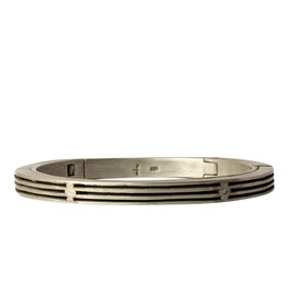 Parts of Four Deco-Slits Sistema Bracelet in Silver