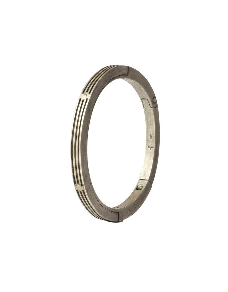 Parts of Four Deco-Slits Sistema Bracelet in Silver