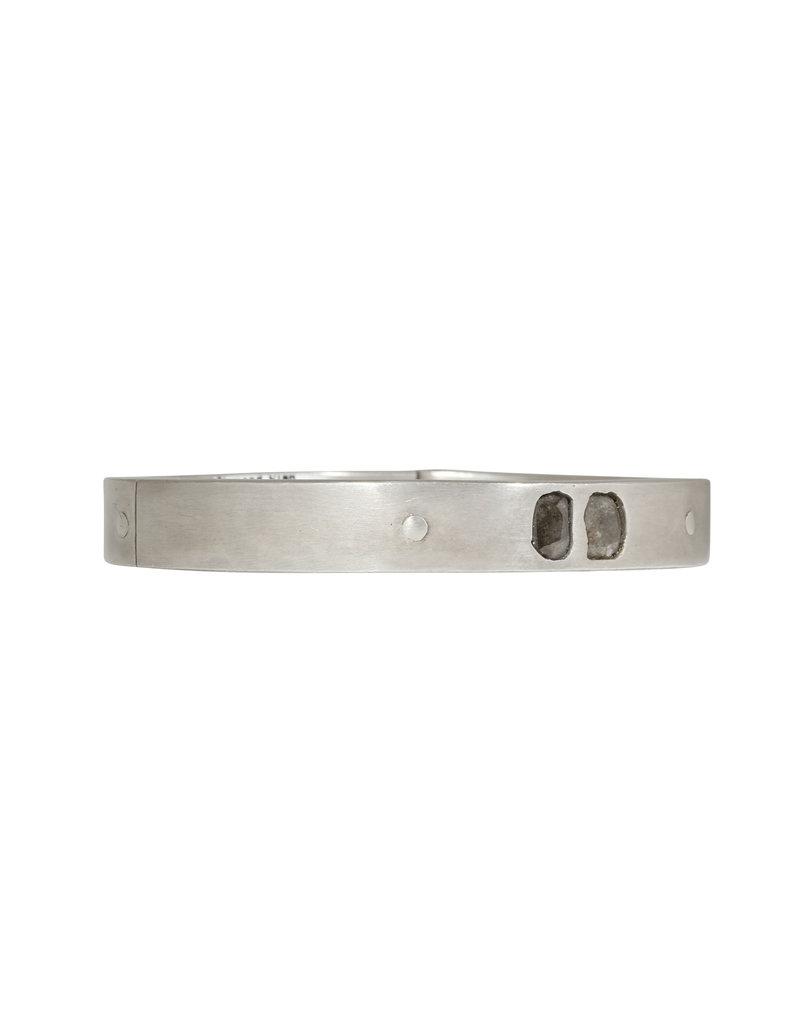 Parts of Four Diamond Slab Sistema Bracelet in Silver
