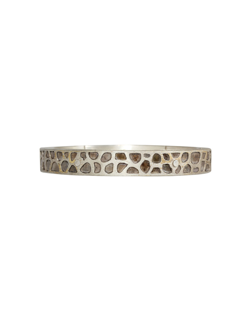 Parts of Four Mega Pavé Sistema Bracelet in Silver