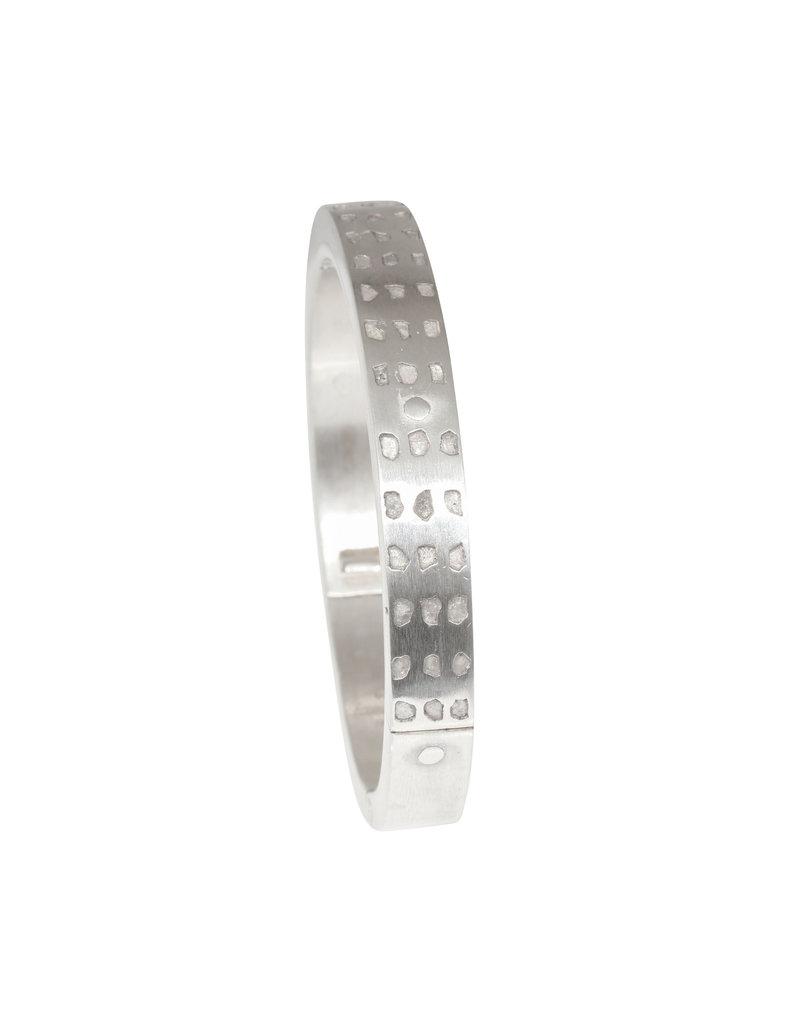 Parts of Four Linear Mega Pavé Sistema Bracelet in Silver