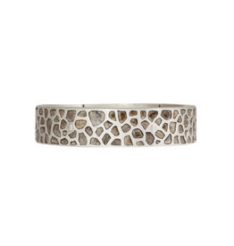 Parts of Four Mega-Pavé Sistema Bracelet in Silver
