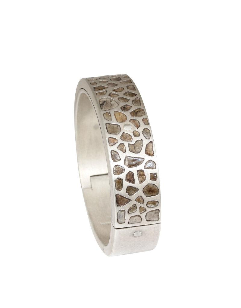 Parts of Four Mega-Pavé Sistema Bracelet in Silver