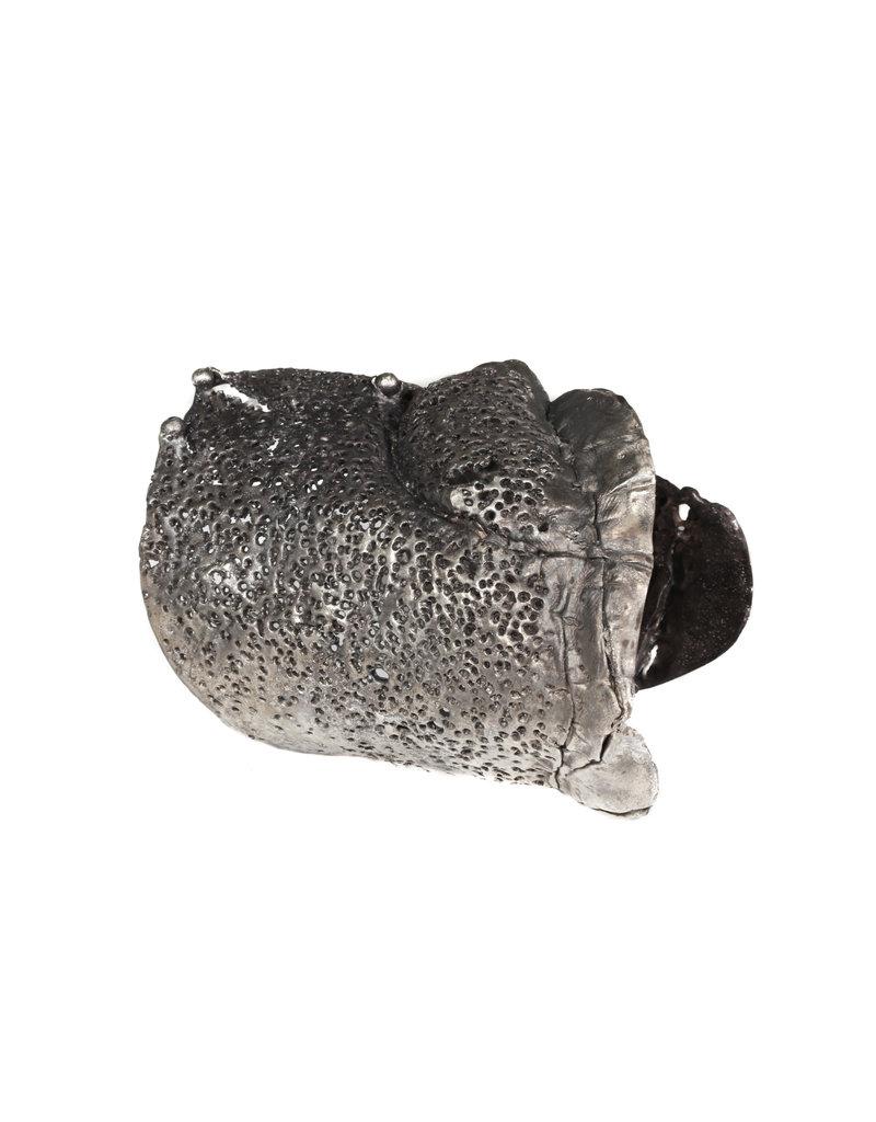 Sliced Cuff Bracelet with Black Diamonds in Oxidized Silver