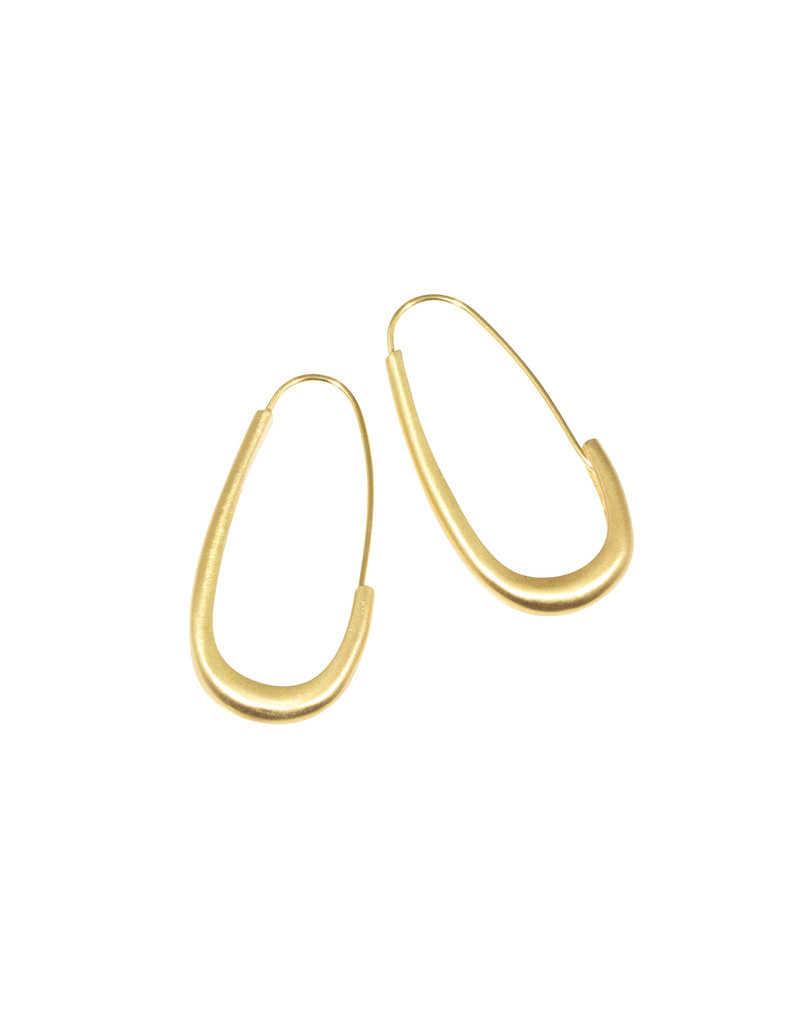 Oval Katachi Hoops in 18k
