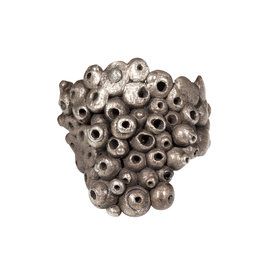 Oxidized Silver Ring with Black Diamonds