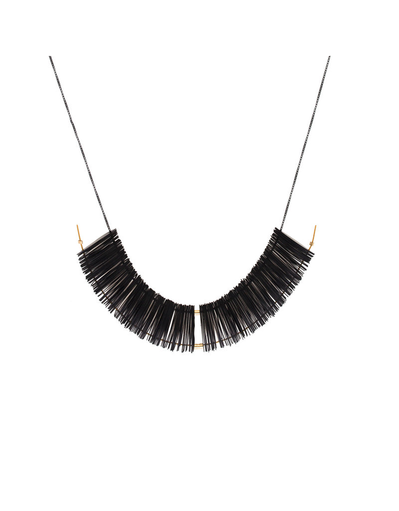 Cuervo Marquise Necklace with Black Sequins