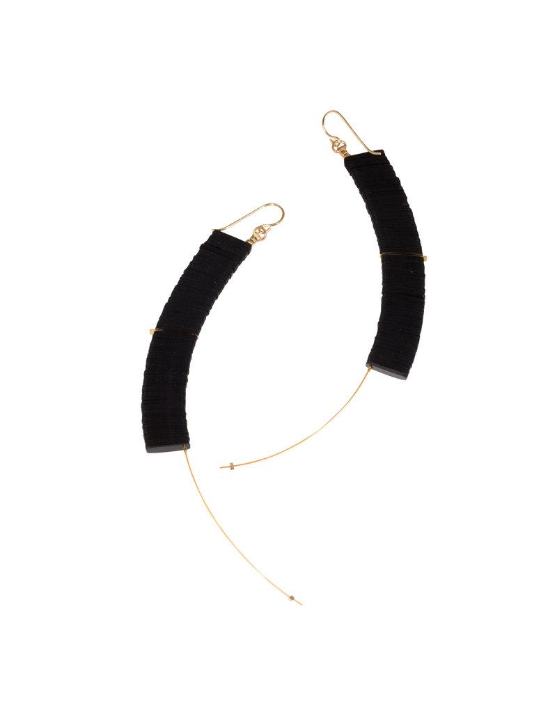 Cuervo Drop Earrings with Black Sequins