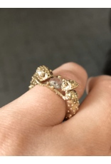 Alexis Pavlantos Chameleons Ring in 14k Gold with Rose Cut Diamond