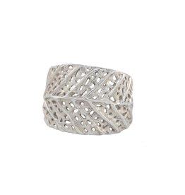 Alexis Pavlantos Adjustable Literfall Ring in Silver