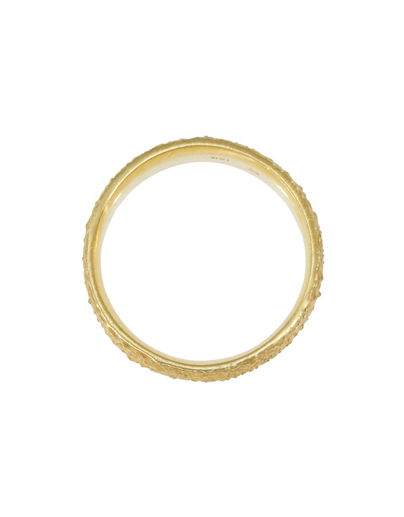 Wide Chunky Sand Band in 18k Yellow Gold