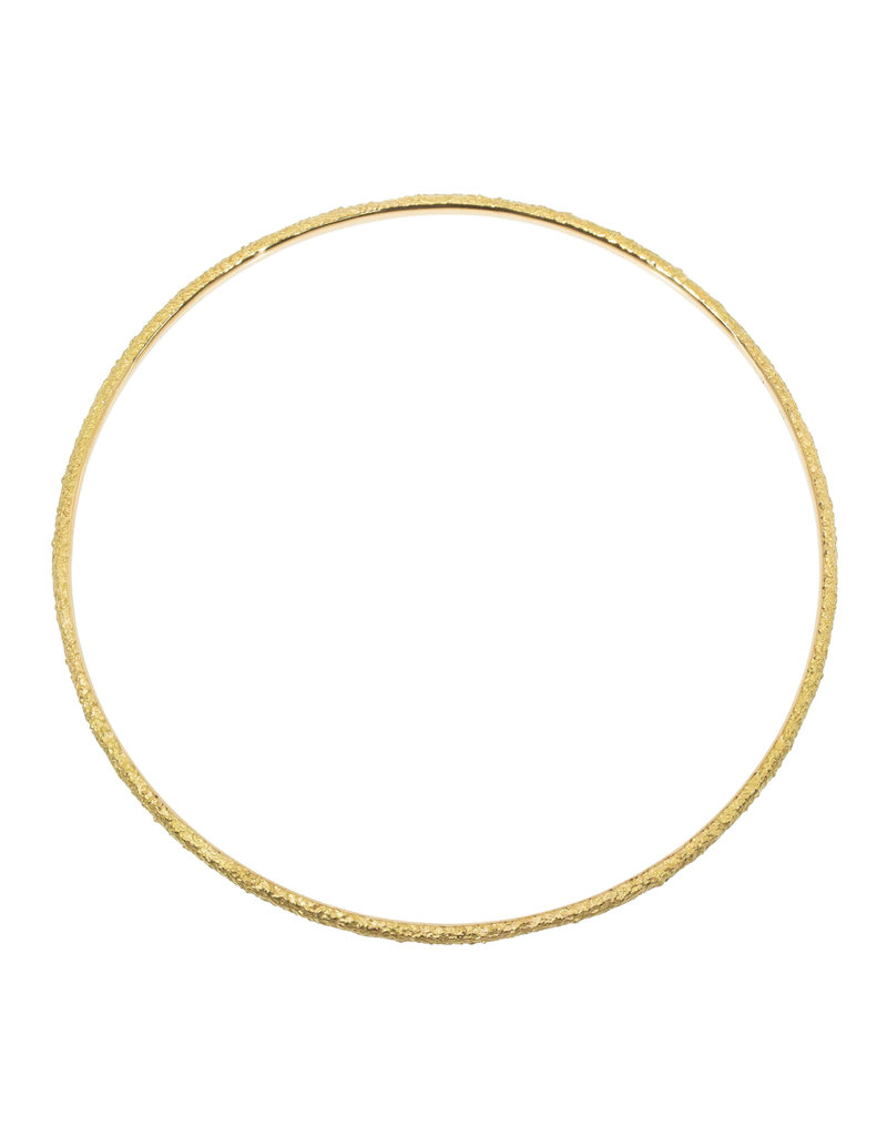 Round Sand Bangle in 18k Yellow Gold
