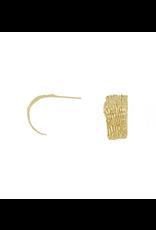 Alexis Pavlantos Fractured Sedimentary Hoop Earrings in 14k Gold
