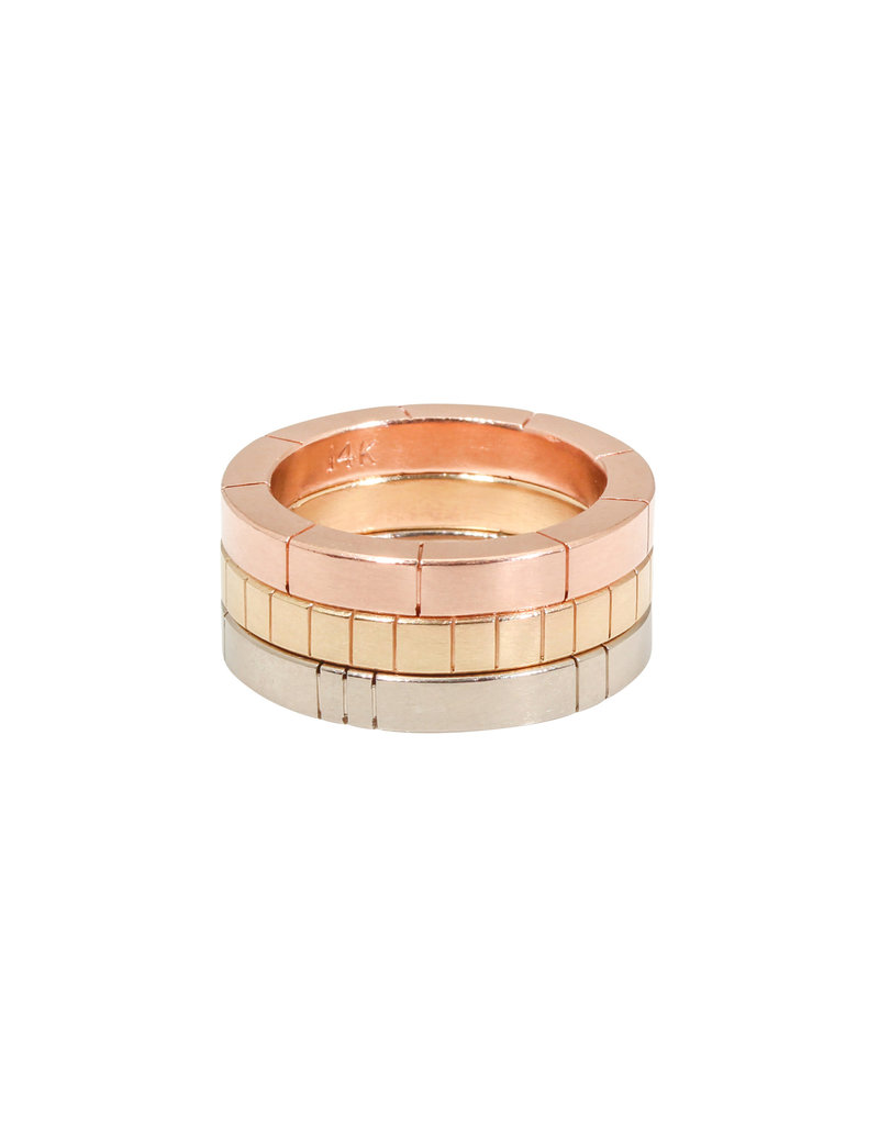 Trevi Pendro Beam Ring in 14k Rose Gold