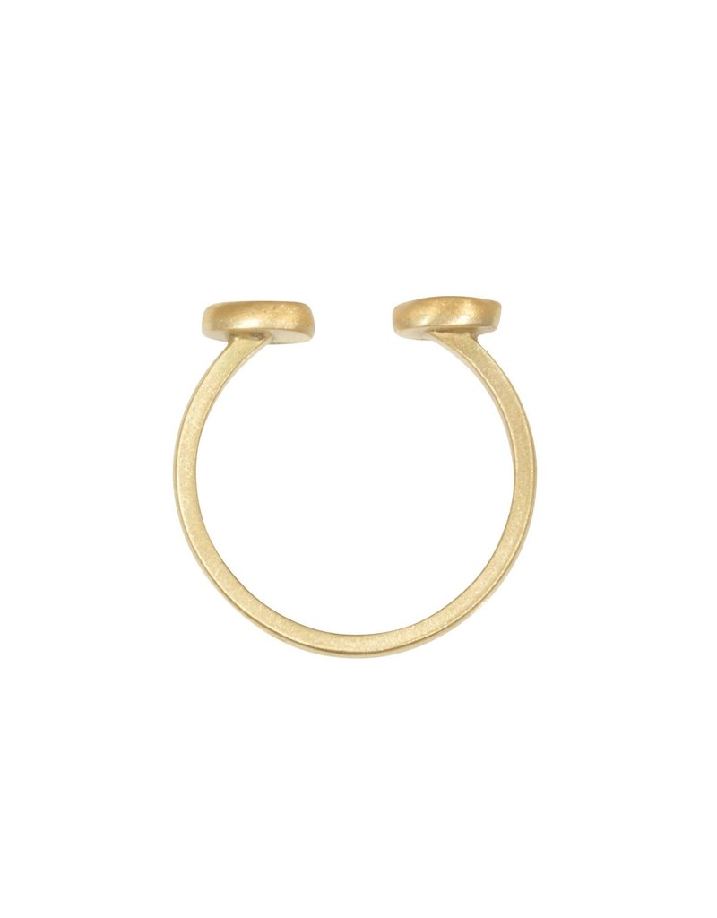 Open Diamond Slice Ring in 18k and 22k Gold