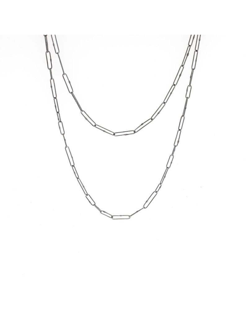 +Variable Links Chain in Oxidized Silver - 24""