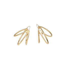 +Medium Pinasse Hoop Earrings in Bronze