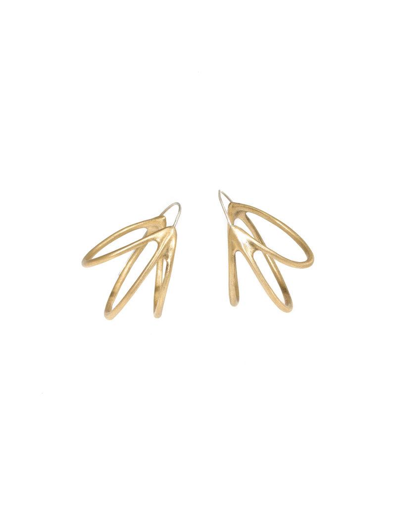 Medium Pinasse Hoop Earrings in Bronze