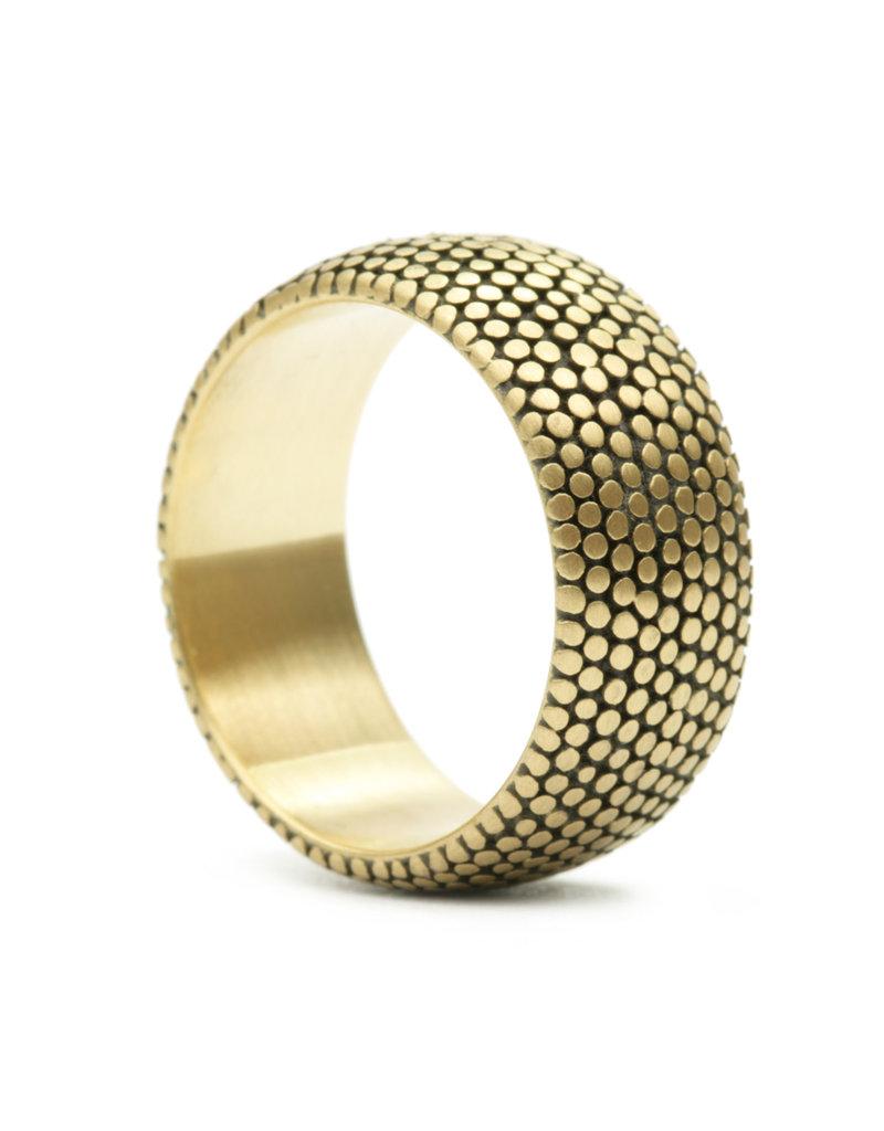 Marian Maurer Wide Dot Band in 18k Gold