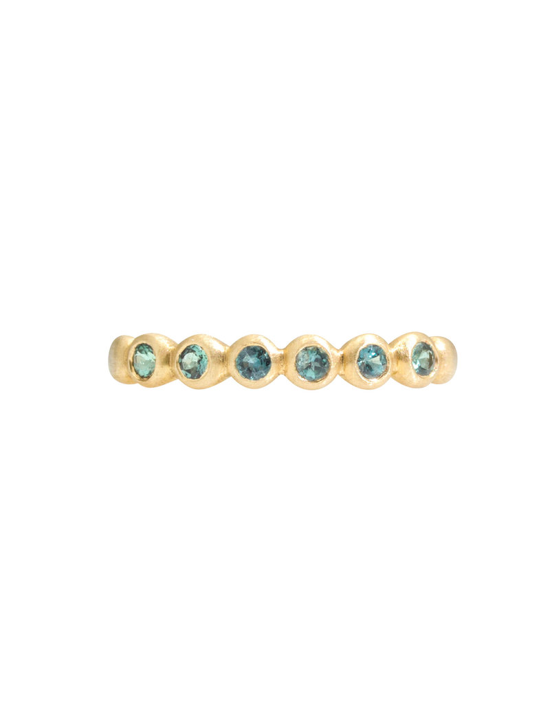 Marian Maurer Porch Skimmer Band with 2mm Alexandrite in 18k Yellow Gold