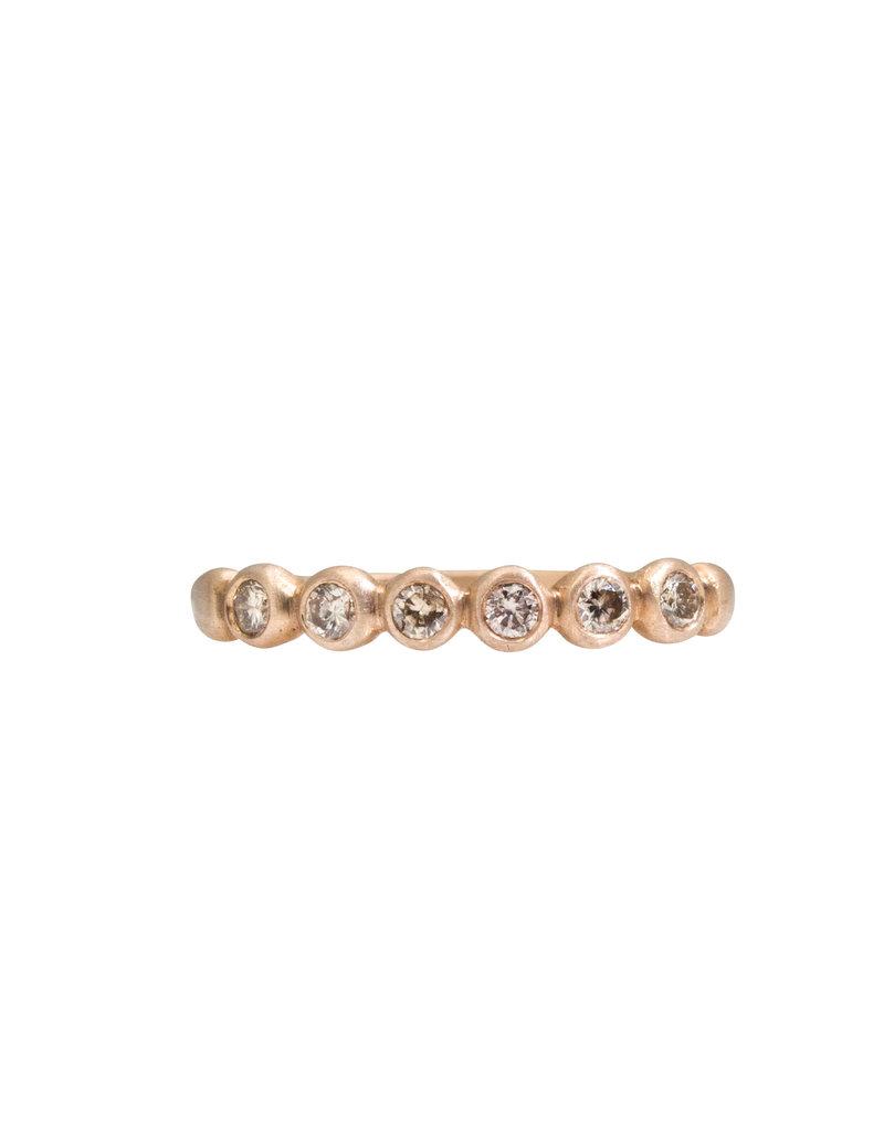 Marian Maurer Porch Skimmer Band with 2mm Champagne Diamonds in 18k Bronze Gold