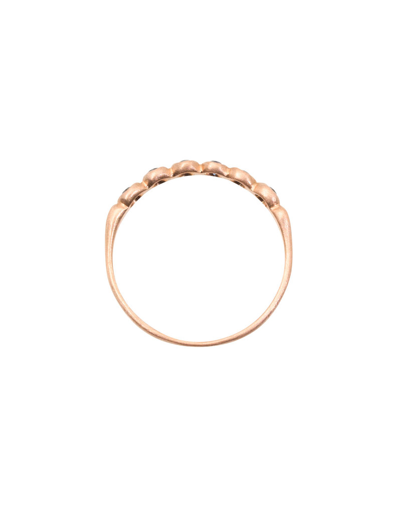 Marian Maurer Porch Skimmer Band with 2mm Sapphires in 18k Rose Gold