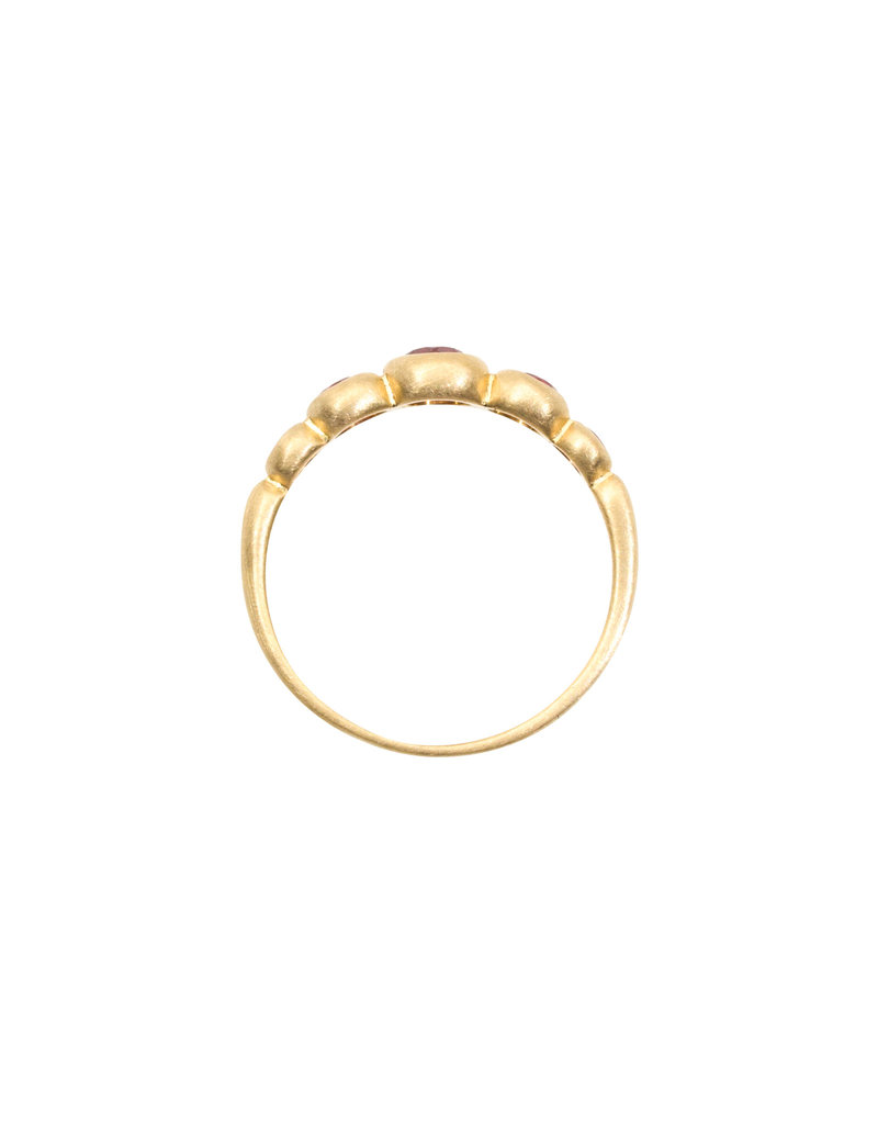 Marian Maurer Kima Ring with 5 Rubies in 18k Yellow Gold