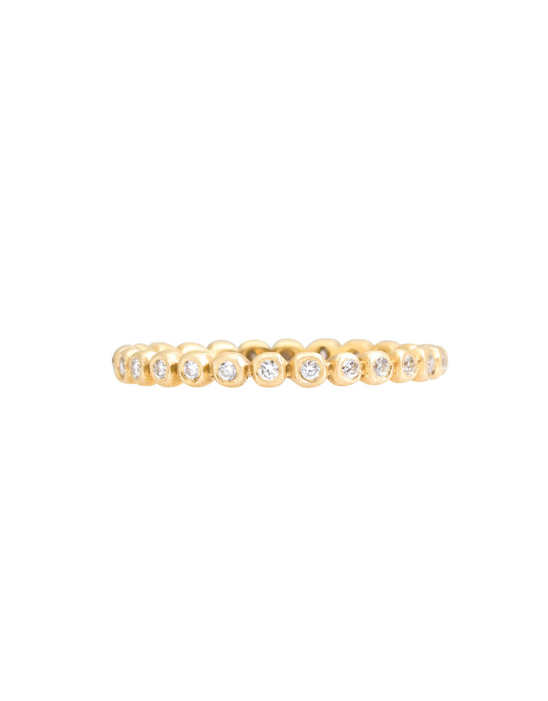 Marian Maurer Porch Band with 1.25mm Diamonds in 18k Yellow Gold