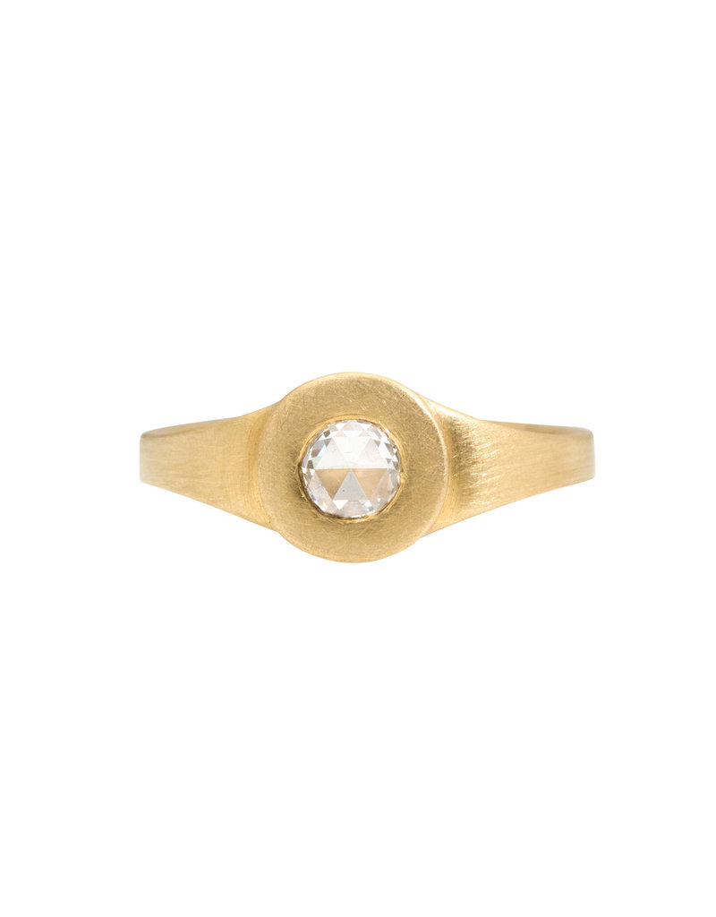 Marian Maurer City Ring with Rosecut Diamond in 18k Yellow Gold