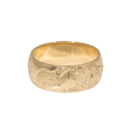 Snake Signet Ring(6mm)  in 14k Yellow Gold