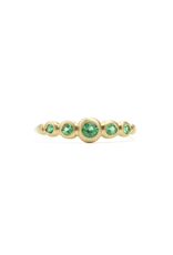 Marian Maurer Kima Ring with 5 Emeralds in 18k Yellow Gold