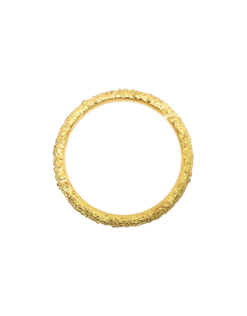 Round Sand Band in 18k Yellow Gold