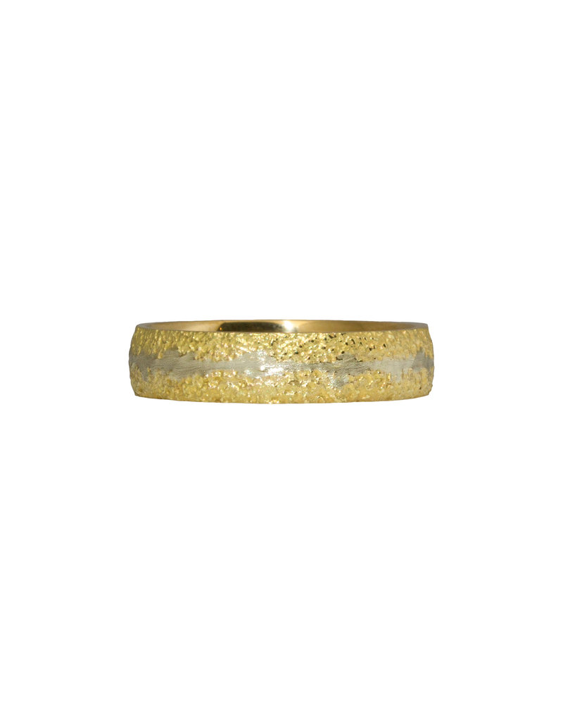 Fog Sand Band in 18k Yellow Gold